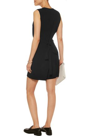 THEORY Benina wrap-effect crepe playsuit