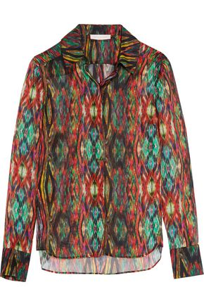 MATTHEW WILLIAMSON Sweetie Ragadang printed silk-chiffon shirt