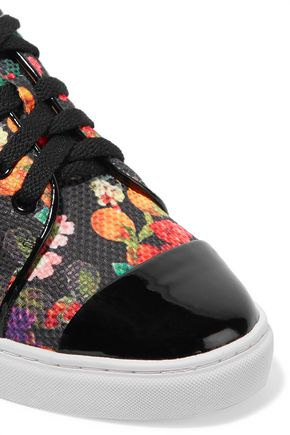 ISA TAPIA Caelen leather and printed woven sneakers