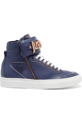 JUST CAVALLI Leather high-top sneakers