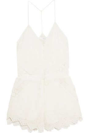 IRO Florya broderie anglaise georgette playsuit