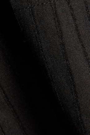 IRO Flore striped cotton-blend top