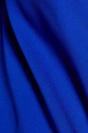 MILLY Sophia draped silk-blend top