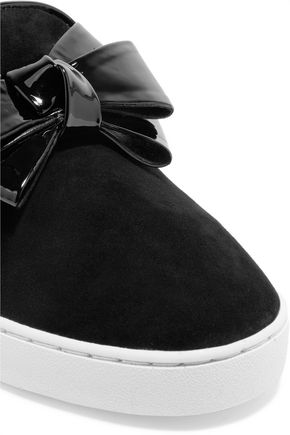 MICHAEL KORS COLLECTION Val bow-embellished suede sneakers