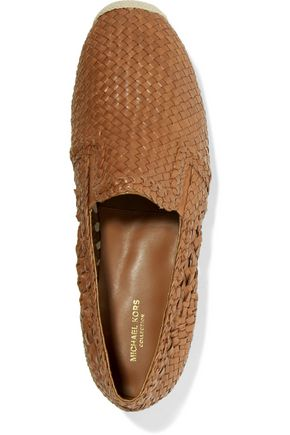MICHAEL KORS COLLECTION Toni woven leather espadrilles