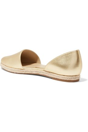 MICHAEL KORS COLLECTION Corey metallic leather espadrilles