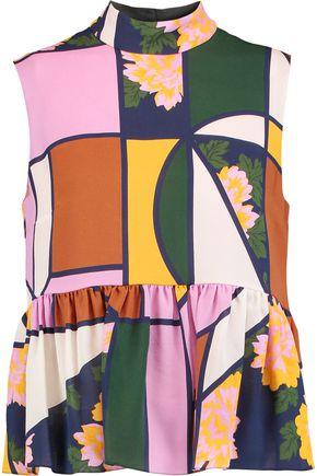 ROKSANDA Hamilton printed silk top