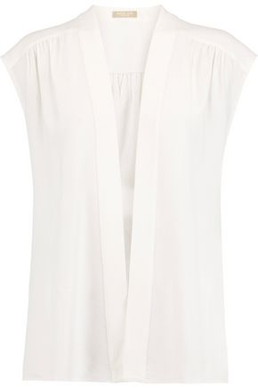 MICHAEL KORS COLLECTION Silk-blend top