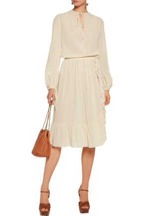 MICHAEL KORS COLLECTION Crinkled-cotton top
