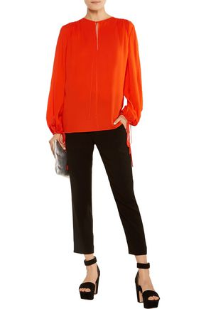 MICHAEL KORS COLLECTION Pleated silk blouse