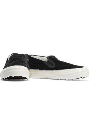 GOLDEN GOOSE DELUXE BRAND Suede-trimmed velvet slip-on sneakers
