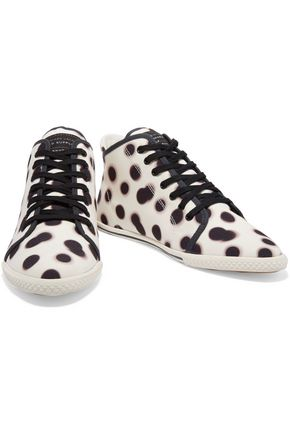 MARC BY MARC JACOBS Polka-dot canvas high-top sneakers