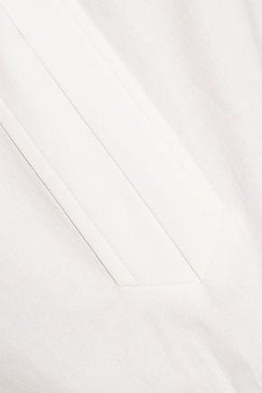 RACHEL ZOE Brook ruffle-trimmed cotton-blend poplin top