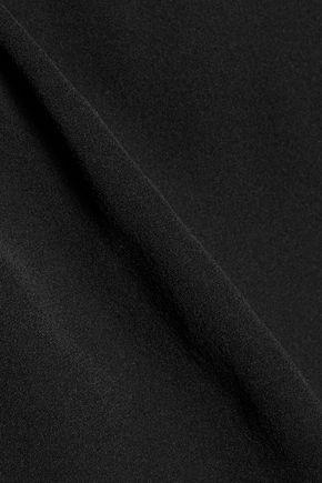 RACHEL ZOE Wylie off-the-shoulder metallic lace-paneled silk crepe de chine top