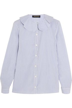 VANESSA SEWARD Candy striped cotton-poplin blouse