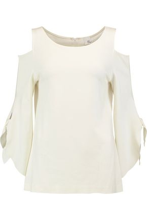 IRIS & INK Alison cold-shoulder jersey top