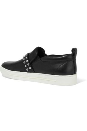 MARC BY MARC JACOBS Studded leather slip-on sneakers