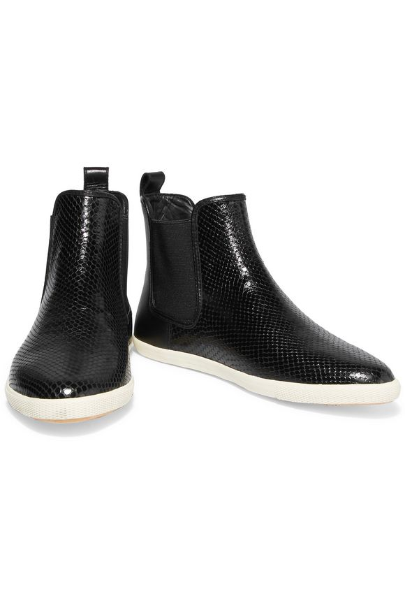 Gracie Chelsea snake-effect leather slip-on sneakers | MARC BY MARC JACOBS  | Sale up to 70% off | THE OUTNET