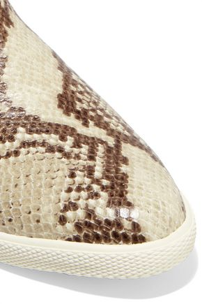 MARC BY MARC JACOBS Gracie snake-effect leather high top sneakers