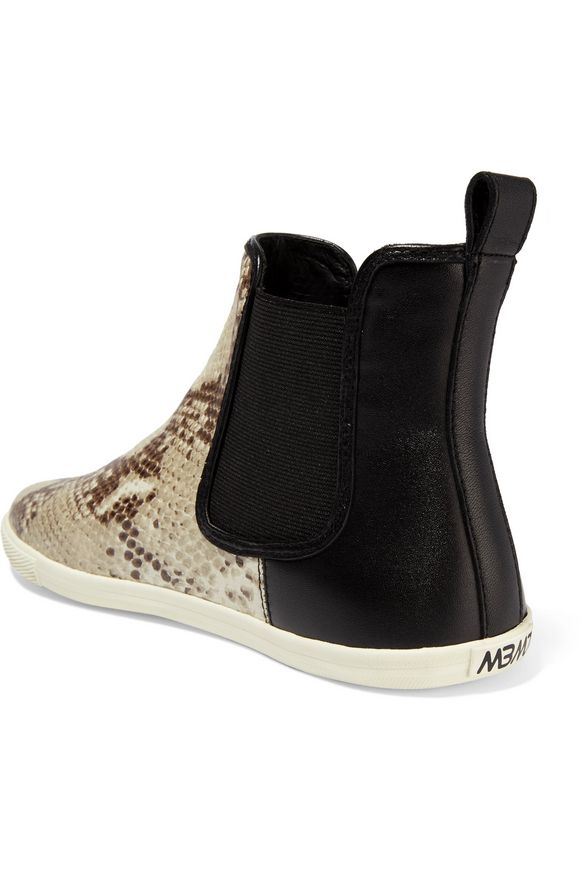 Gracie snake-effect leather high top sneakers   MARC BY MARC JACOBS   Sale  up to 70% off   THE OUTNET