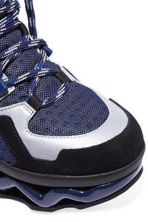 MARC BY MARC JACOBS Ninja Wave suede-trimmed mesh and leather sneakers