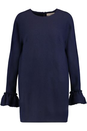 MERCHANT ARCHIVE Ruffled wool-crepe tunic