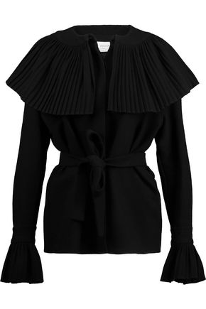 MERCHANT ARCHIVE Pleated wool-crepe top