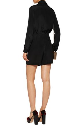 VANESSA SEWARD Pussy-bow silk crepe jumpsuit