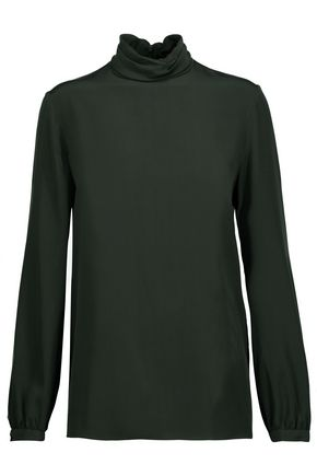 VANESSA SEWARD Silk crepe de chine turtleneck bouse
