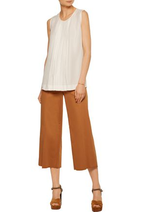 VANESSA SEWARD Pintucked crepe blouse