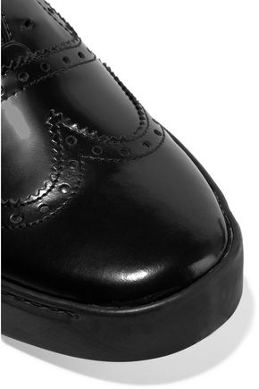 RAG & BONE Meli glossed-leather brogues