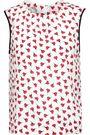 OSCAR DE LA RENTA Floral-print silk crepe de chine top