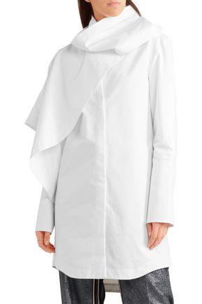 J.W.ANDERSON Oversized draped cotton-poplin shirt