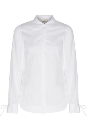 3.1 PHILLIP LIM Embroidered cotton-broadcloth shirt