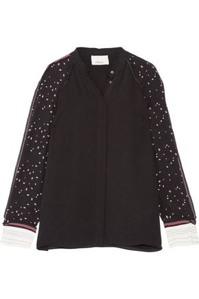3.1 PHILLIP LIM Printed silk-blend shirt
