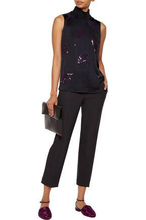 3.1 PHILLIP LIM Sequin-embellished satin turtleneck top