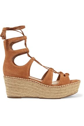 SCHUTZ Hudson lace-up platform espadrille sandals