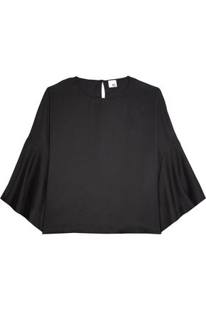 IRIS & INK Marissa fluted charmeuse top