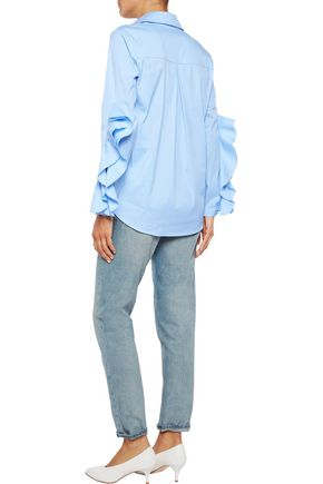 IRIS & INK Ali stretch cotton-blend shirt