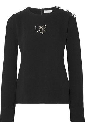 J.W.ANDERSON Brooch-embellished crepe blouse