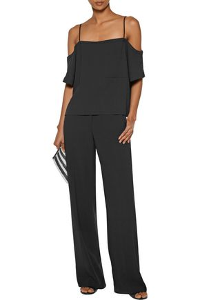 T by ALEXANDER WANG Cold-shoulder crepe top