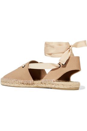 TOMAS MAIER Embroidered canvas espadrilles