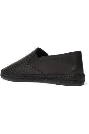 TOMAS MAIER Printed leather espadrilles