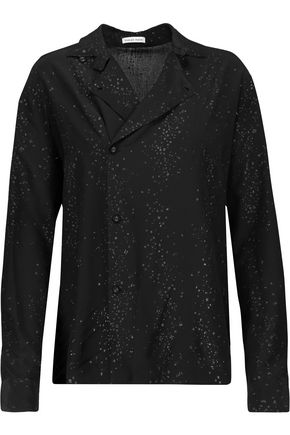 TOMAS MAIER Glittered printed silk crepe de chine shirt