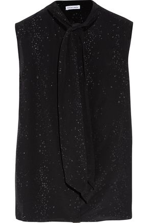 TOMAS MAIER Glittered crepe de chine blouse