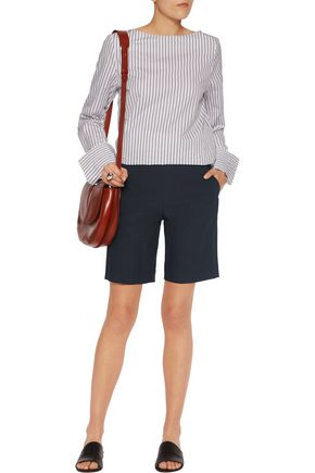THEORY Palanis stretch cotton-blend shorts