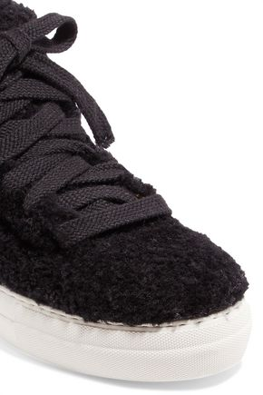 HELMUT LANG Shearling high-top sneakers