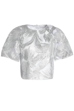 SAFIYAA Metallic jacquard top