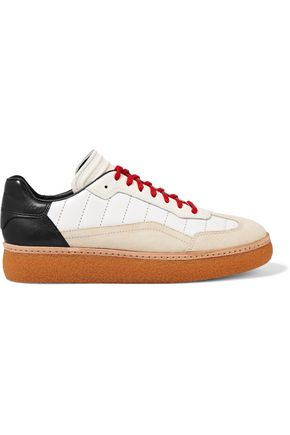 ALEXANDER WANG Eden suede and leather platform sneakers