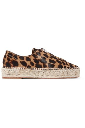 ALEXANDER WANG Devon leopard-effect leather espadrilles